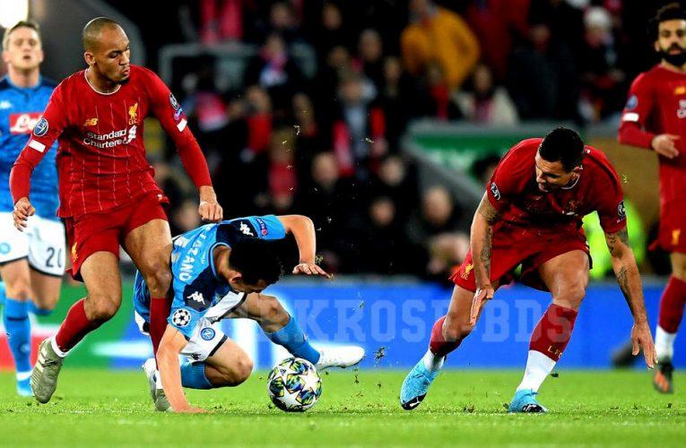 Napoli ตีเสมอได้ทำให้ Liverpool ต้องรอผล 16 ทีมสุดท้าย