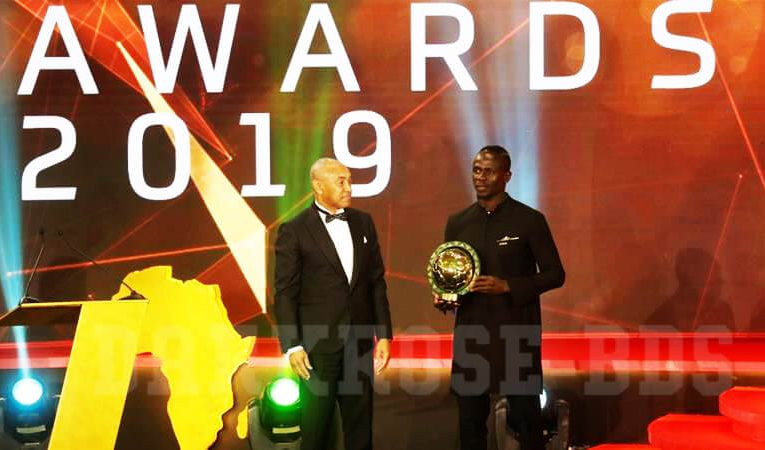 Sadio Mane กองหน้าชาวเซเนกัลรับรางวัล Caf African Player of the Year